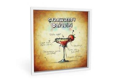 Wandbild Strawberry Daiquiri - quadratisch