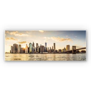 Wandbild Sundown in Manhattan