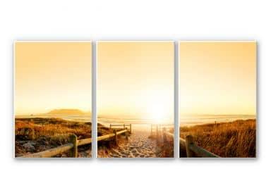 Wandbild Sunset at the Beach (3-teilig)