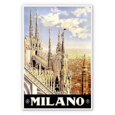 Wandbild Vintage Travel - Milano