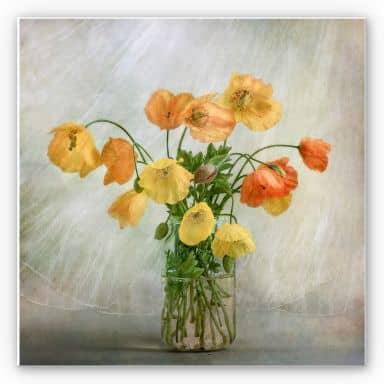 Wandbild Disher - Mohnblumen im Glas