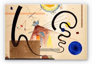 Wandbild Kandinsky - Zwei Bewegungen