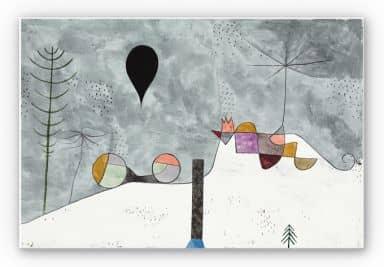 Wandbild Klee - Winterbild