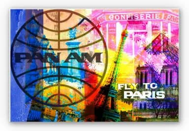 Wandbild PAN AM - Paris