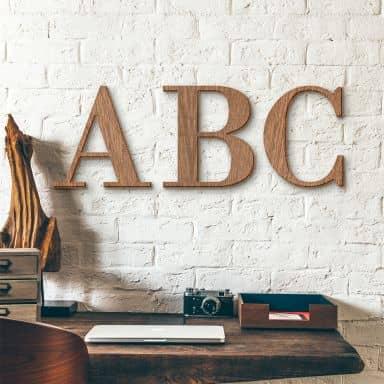 Wooden Letters - Mahogany - Bodoni