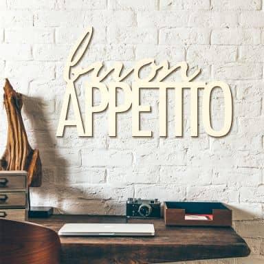 Scritta in legno Buon Appetito