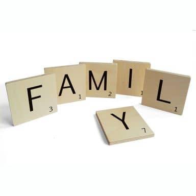 Lettere in legno – Family