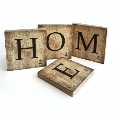 Lettres décoratives en bois - Home - Vintage