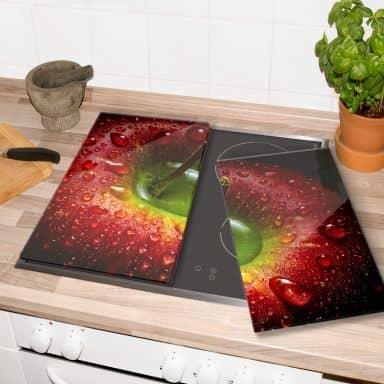 Herdabdeckplatte Ianeva - Roter Apfel