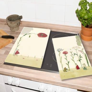 Herdabdeckplatte - Leffler - Blumensamen