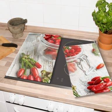 Herdabdeckplatte - hot chili