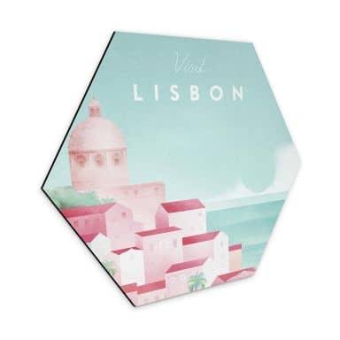 Hexagon - Alu-Dibond Rivers - Lissabon