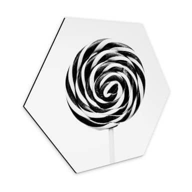 Hexagon - Alu-Dibond Sisi & Seb - Lollipop