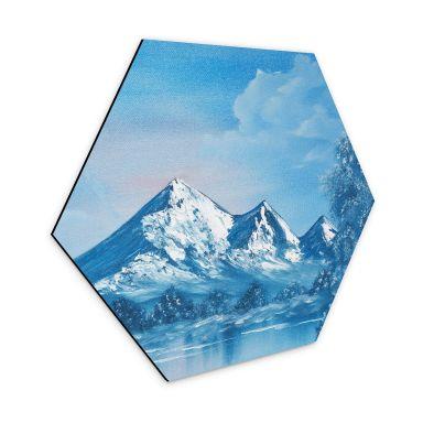 Hexagon - Alu-Dibond Toetzke - Alpsee in den Bergen