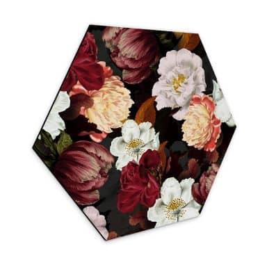Hexagon - Alu-Dibond UN Designs - Blumenarrangement