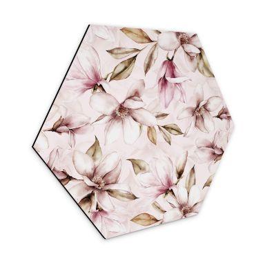 Hexagon - Alu-Dibond UN Designs - Soft Magnolia