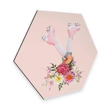 Hexagon - Alu-Dibond - Fuentes - Roller Flowers
