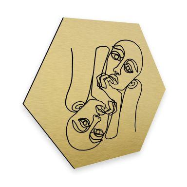 Hexagon - Alu-Dibond-Goldeffekt - Hariri - Ava