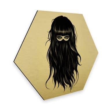Hexagon - Alu-Dibond-Goldeffekt Ireland - It-Girl