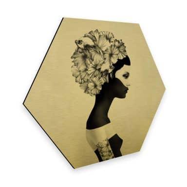 Hexagon - Alu-Dibond-Goldeffekt - Ireland - Marianna
