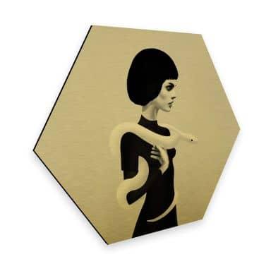Hexagon Alu-Dibond Goudeffect - Ireland - Only Skin