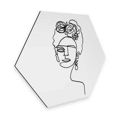 Hexagon Alu-Dibond - Hariri - Frida Kahlo