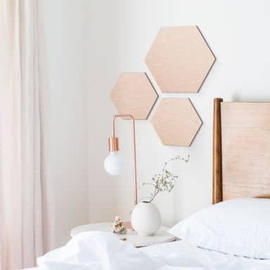 Hexagon Alu dibond koper effect