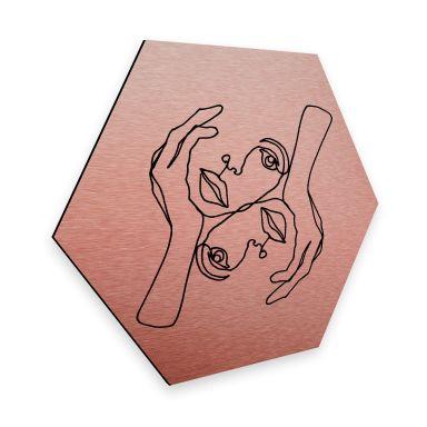 Hexagon - Alu-Dibond Kobbereffekt - Hariri - Karisma