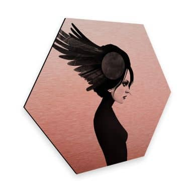 Hexagon - Alu-Dibond-Kupfereffekt Ireland - Amy - Flügel