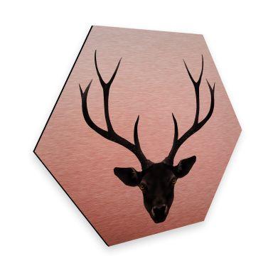 Hexagone - Tableau sur alu-Dibond - Effet cuivré - Ireland - Le cerf noir