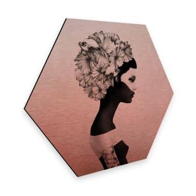 Hexagon - Alu-Dibond-Kupfereffekt - Ireland - Marianna