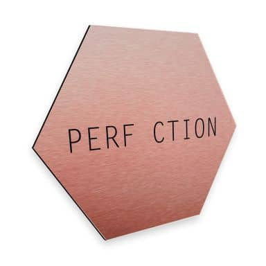 Hexagon - Alu-Dibond-Kupfereffekt Nordic Creators - Perfection