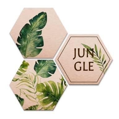 Hexagon Alu dibond koper effect Kvilis - Jungle