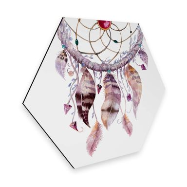 Hexagon Alu-Dibond - Kvilis - Dream Catcher