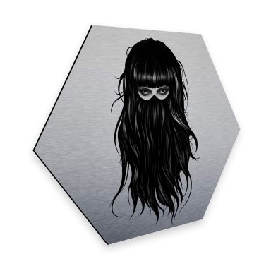Hexagon - Alu-Dibond-Silbereffekt Ireland - It-Girl