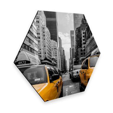 Hexagon - Alu-Dibond - Streets in New York City