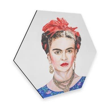 Hexagon - Alu-Dibond Toetzke - Frida Kahlo