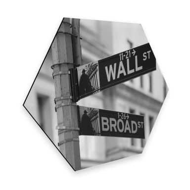 Hexagon - Alu-Dibond - Wallstreet