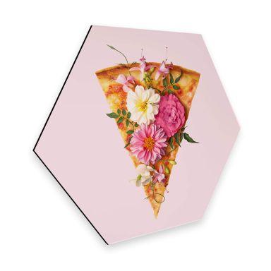 Hexagon Alu-Dibond - Fuentes - Pizza & Flowers