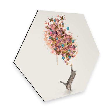 Hexagon - Alu-Dibond Graves - Catching Butterflies