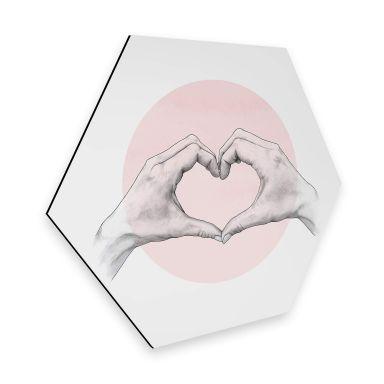 Hexagon - Alu-Dibond Graves – Heart in Hand