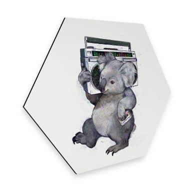 Hexagon - Alu-Dibond Graves - Music Koala