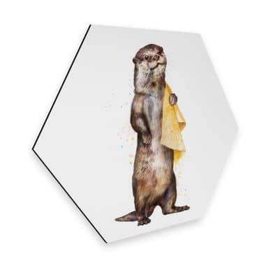 Hexagon - Alu-Dibond Graves - Otter