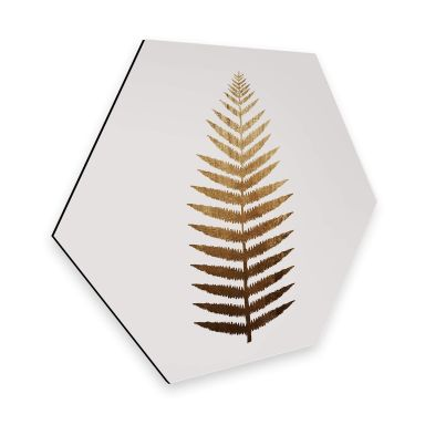 Hexagon - Alu-Dibond Kubistika - Golden Fern