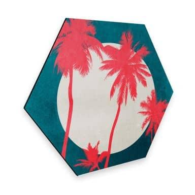 Hexagon Alu-Dibond Kubistika - Caribbean Night