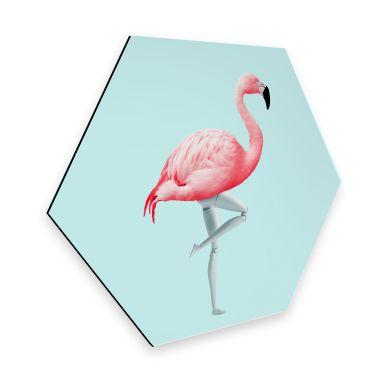 Hexagon - Alu-Dibond Loose - Flamingo Mannequin