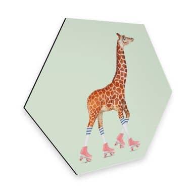 Hexagon - Alu-Dibond Loose – Rollerskating Giraffe