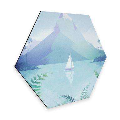 Hexagon - Alu-Dibond Rivers - Neuseeland