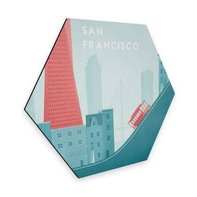 Hexagon - Alu-Dibond Rivers - San Francisco