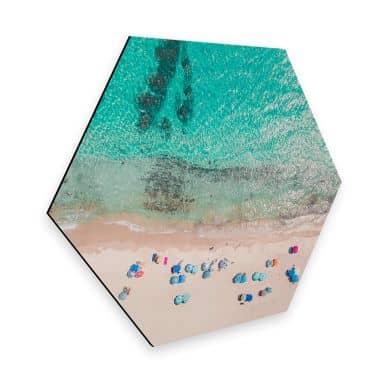 Hexagon - Alu-Dibond - Sisi & Seb - Am Strand